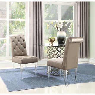 Chic Home Tate Velvet Upholstered Dining Chair,Set of 2 - N/A