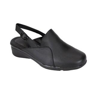 24 HOUR COMFORT Tania Women Wide Width Trendy Slingback Mule Shoes