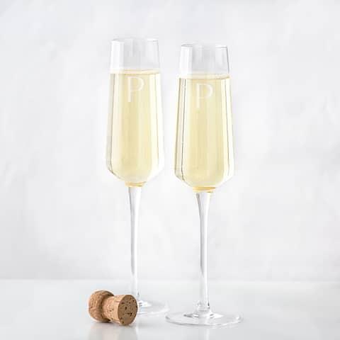 Personalized 9.5 oz. Champagne Estate Glasses (Set of 2)