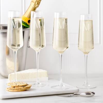Personalized 9.5 oz. Champagne Estate Glasses (Set of 4)