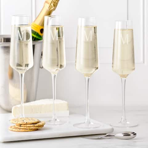 Personalized 9.5 oz. Champagne Estate Glasses (Set of 4)