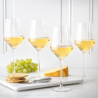 Personalized 14 oz. White Wine Estate Glasses (Set of 4)