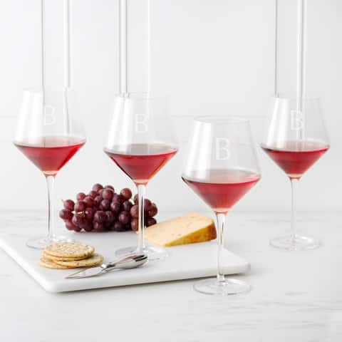 Personalized 23 oz. Red Wine Estate Glasses (Set of 4)