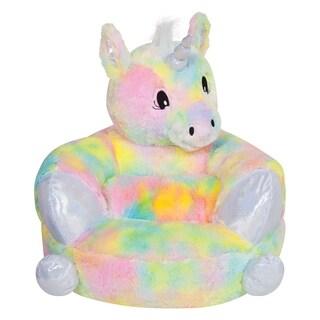Children's Plush Rainbow Unicorn Character Chair