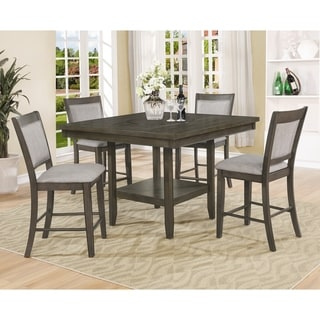 OS Home and Office Model 2727K Counter Height Dining Table with Four Upholstered Chairs