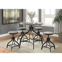 OS Home and Office Model 1172 Height Adjustable Table with Four Height Adjustable Stools