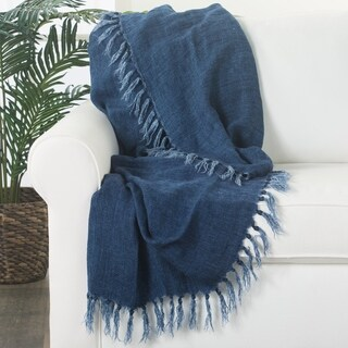 """Melody Solid Blue Throw (51""""X67"""")"""