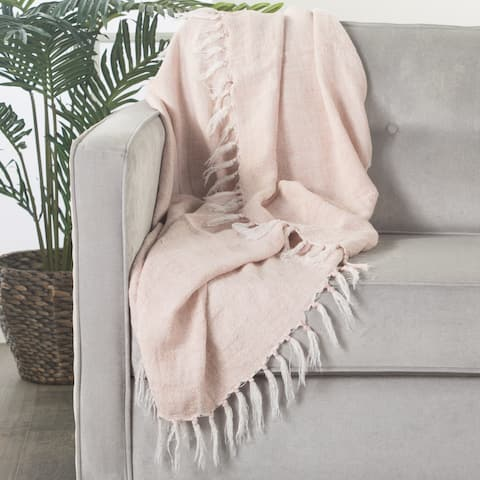 Melody Solid Light Pink Throw