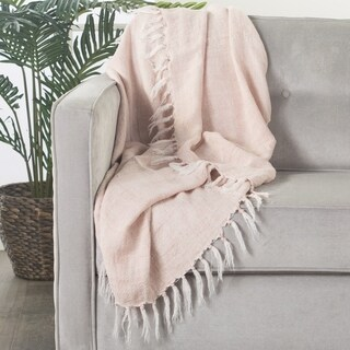 """Melody Solid Light Pink Throw (51""""X67"""")"""