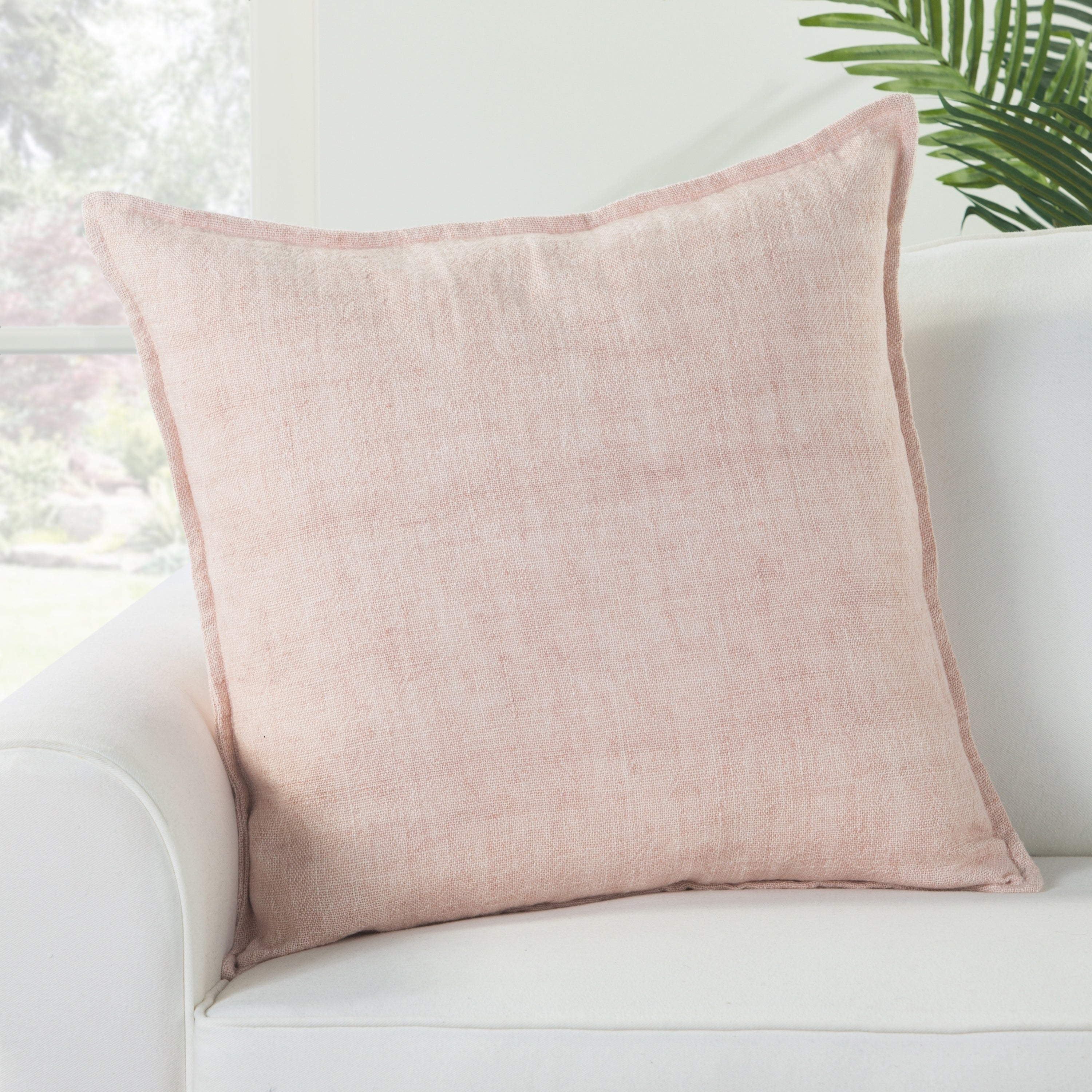 Bay Solid Light Pink Down Throw Pillow 22 Inch Overstock 22425977