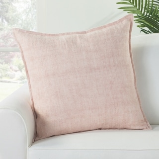 Bay Solid Light Pink Down Throw Pillow 22 inch