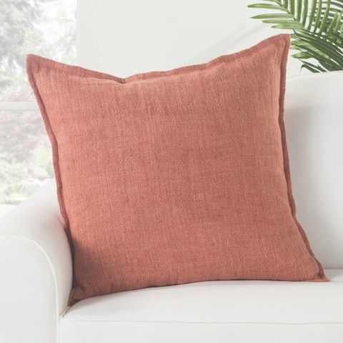 Bay Solid Red Poly Throw Pillow 22 inch