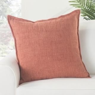 Bay Solid Red Down Throw Pillow 22 inch