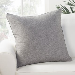 Park Solid Light Gray Poly Throw Pillow 22 inch