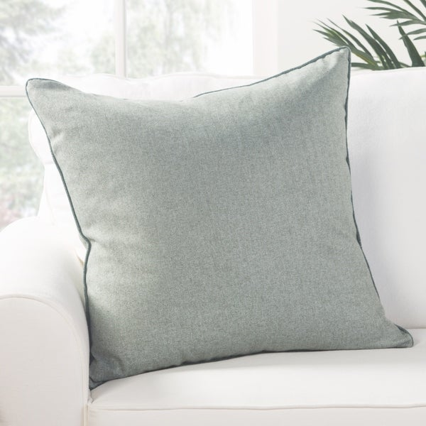 Park Solid Light Blue Down Throw Pillow 22 inch