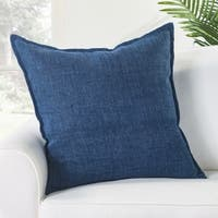 Bay Solid Blue Poly Throw Pillow 22 inch