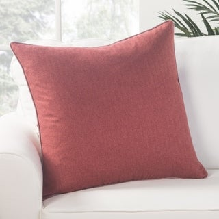 Park Solid Red Poly Throw Pillow 22 inch