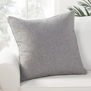 Park Solid Light Gray Down Throw Pillow 22 inch