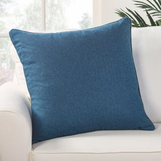 Park Solid Blue Down Throw Pillow 22 inch
