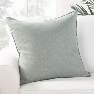 Park Solid Light Blue Poly Throw Pillow 22 inch