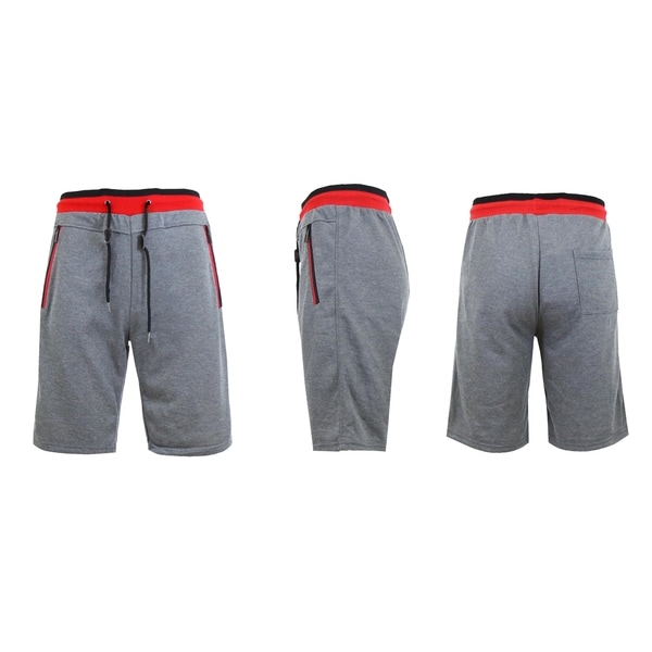 sweat shorts with zipper pockets