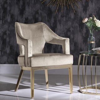 Link to Chic Home Danu Velvet Upholstered Accent Chair Similar Items in Arm Chairs