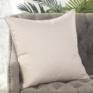 Park Solid Cream Poly Throw Pillow 22 inch