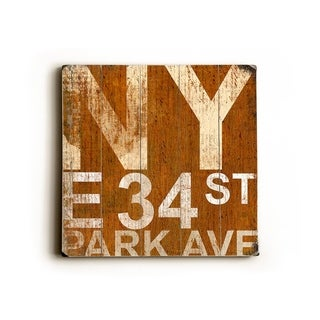 NY PARK AVE -   Planked Wood Wall Decor by Cory Steffen