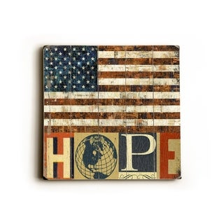 USA hope -   Planked Wood Wall Decor by Stella Bradley