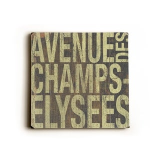 Avenue Des Champs -   Planked Wood Wall Decor by Cory Steffen