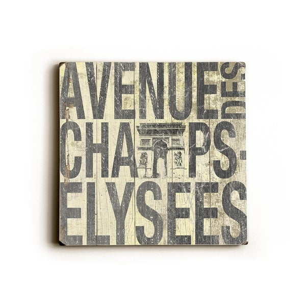 Avenue Elysees - Planked Wood Wall Decor by Cory Steffen