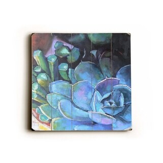 Blue Florals -   Planked Wood Wall Decor by Carol Schiff