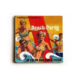 Beach Party -   Planked Wood Wall Decor by Wade Koniakowsky