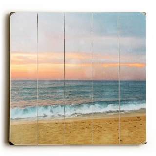 Sky Beach -   Planked Wood Wall Decor by Vanessa Fahmy