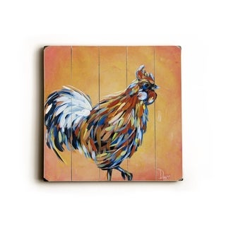 Rooster Ready -   Planked Wood Wall Decor by Danlye Jones