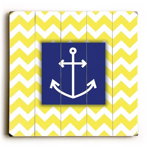 Anchor - Planked Wood Wall Decor by Misty Diller