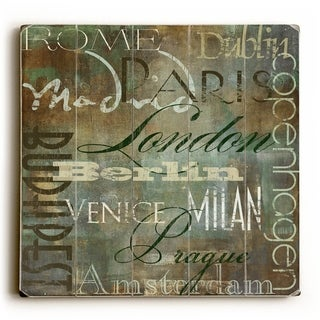 Cities of the World II -   Planked Wood Wall Decor by ArtLicensing