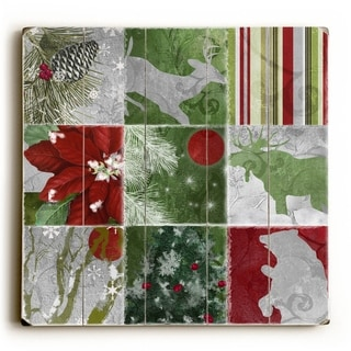 Christmas Lodge -   Planked Wood Wall Decor by ArtLicensing