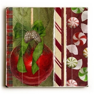 Sweet Holiday  -   Planked Wood Wall Decor by ArtLicensing