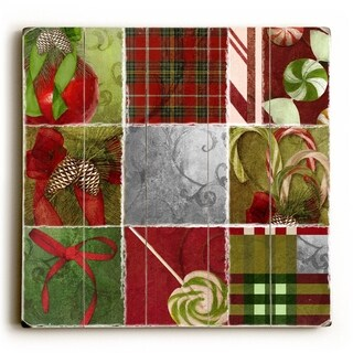 Holiday Patchwork -   Planked Wood Wall Decor by ArtLicensing