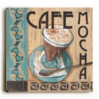 Cafe Mocha -   Planked Wood Wall Decor by Debbie DeWitt