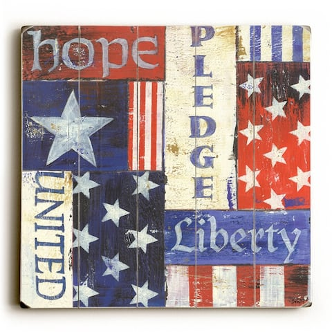 USA Pride - Planked Wood Wall Decor by Debbie DeWitt