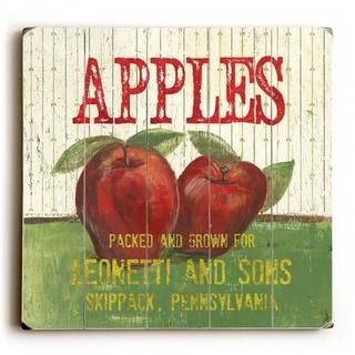 Apples -   Planked Wood Wall Decor by Debbie DeWitt