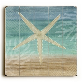 Starfish -   Planked Wood Wall Decor by Beth Albert