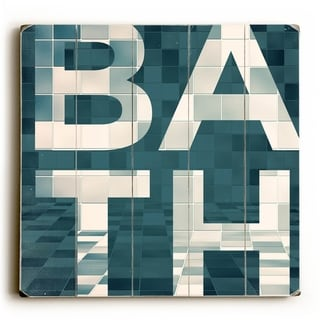 BATH -   Planked Wood Wall Decor by Dallas Drotz