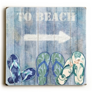 To Beach -   Planked Wood Wall Decor by Jill Meyer
