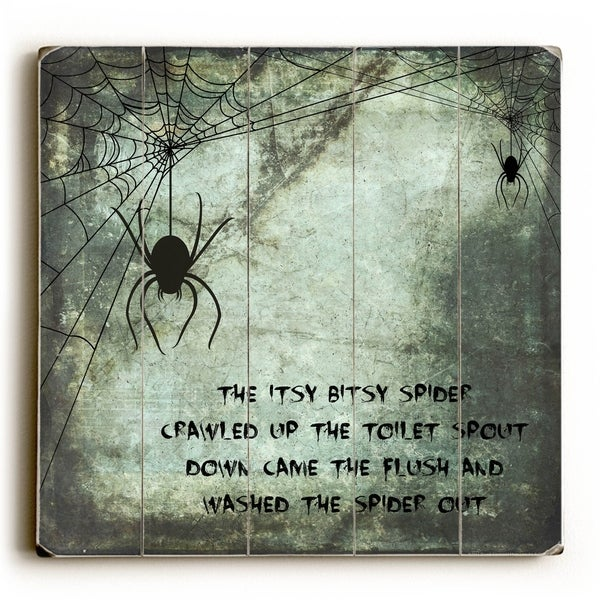 Bitsy Spider - Planked Wood Wall Decor by Mainline Art Design