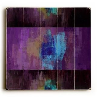 Purple Haze -   Planked Wood Wall Decor by Mainline Art Design