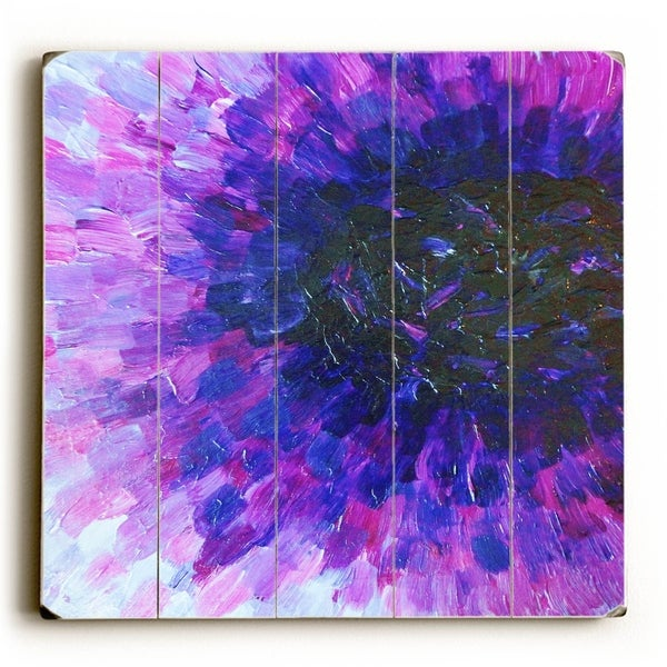 The Dahlia - Purple Planked Wood Wall Decor by Julia DiSano
