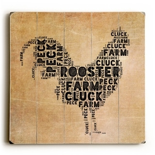 Rooster -   Planked Wood Wall Decor by Mainline Art Design